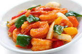 Sweet and sour shrimp — Foto Stock