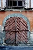 Old wood gate — Stock Photo