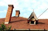 Telhado de casa velha — Foto Stock