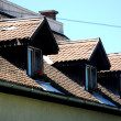 Old house roof — Stock Photo