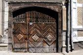 装饰木质门 — 图库照片