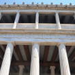 Ancient Agora - Athens Greece - Stoa of Attalos Reconstruction - Stock Photo