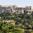 Ancient Agora - Athens Greece - View to Acropolis — Stock Photo