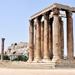 Temple of Olympian Zeus (Olympieion) - Athens Greece - Stock Photo