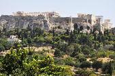 Antika agora - aten grekland - visa till akropolis — Stockfoto