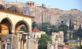 Uitzicht op de atheense akropolis-athens, griekenland — Stockfoto