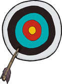 Arrow Off Target — Stock Vector