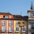 Town Hall Clock in Plaza Mayor (Mayor Square) of Burgos, Spain — Stock Photo