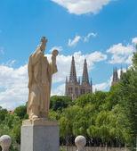 Statue of Jeronimo de Perigord, Burgos. Spain — Stock Photo