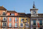 Town Hall Clock in Plaza Mayor (Mayor Square) of Burgos, Spain — Stock Photo