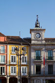 Town Hall Clock in Plaza Mayor (Mayor Square) of Burgos, Spain — ストック写真