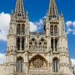 Stock Photo: Principal Facade of Burgos Gothic Cathedral. Spain