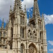 Principal Facade of Burgos Gothic Cathedral. Spain — Stock Photo