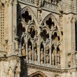 Stock Photo: Details of Principal Facade of Burgos Cathedral. Spain