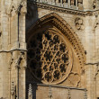 Stock Photo: Gothic Rosette of Principal Facade of Burgos Cathedral. Spain