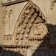 Door of the Apostles in Burgos Cathedral. Spain — Stock Photo