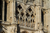 Details of Principal Facade of Burgos Cathedral. Spain — Stock Photo