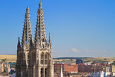 Gothic Pinnacles of Burgos Cathedral. Spain — Stock Photo
