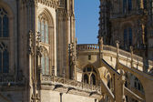 Informationen über die fassade der kathedrale von burgos. spanien — Stockfoto