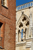 Details of The North Face of Burgos Cathedral. Spain — Stock Photo