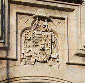 Shield of Castilla y Le—n in Burgos Cathedral. Spain — Stockfoto