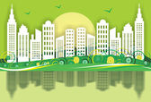 Green City — Stock Vector