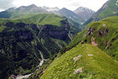 Famous Georgian Military Highway, Caucasus mountains, border bet — Stock Photo