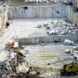 Quarry of white marble — Stock Photo