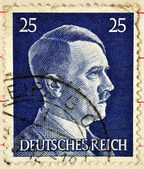 Adolf Hitler on a stamp — Stock Photo