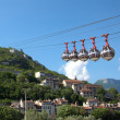 Funicular over Grenoble, France - Stock Photo