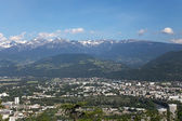 Grenoble, view from mountains — Stock Photo