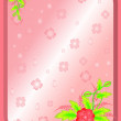 Frame with abstract flowers and background — Stock Vector #11353271