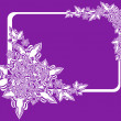 Frame with abstract flowers on lilac background — Stock Vector #11353292