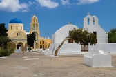 Cycladic churches — Stock Photo