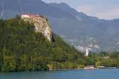 Castle and church of Bled — Stock Photo