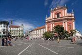 Preseren square, Ljubljana — Stock Photo