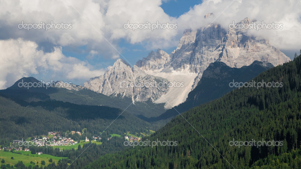 Monte Pelmo (3168 m), Dolomites of Belluno, Italy.  Stock Photo #11133033