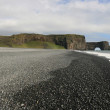 Black beach in Iceland — Stock Photo