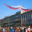 Crowds on Nevsky prospect on City Day — Stock Photo #10829018