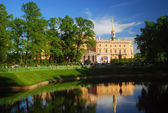 Mikhailovsky castle, view from the Summer Garden — Stock Photo