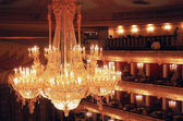 Bolshoi theater interior. Moscow, Russia. — Stock Photo