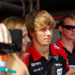 Постер, плакат: Formula 1 driver Charles Pic at Moscow City Racing