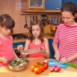 Family cooking at home — Stock Photo #10765242