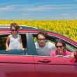 Royalty-Free Stock Photo: Family summer vacation, travel by car