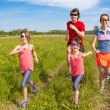 Family sport, jogging outdoors — Stock Photo #11000813