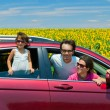 Stock Photo: Family summer vacation, travel by car