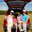 Family summer vacation, travel by car - Stock Photo