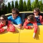 Family vacation, car trip — Stock Photo