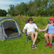 Family vacation in camping — Stock Photo #11004391