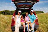 Family summer vacation, travel by car — Stock Photo